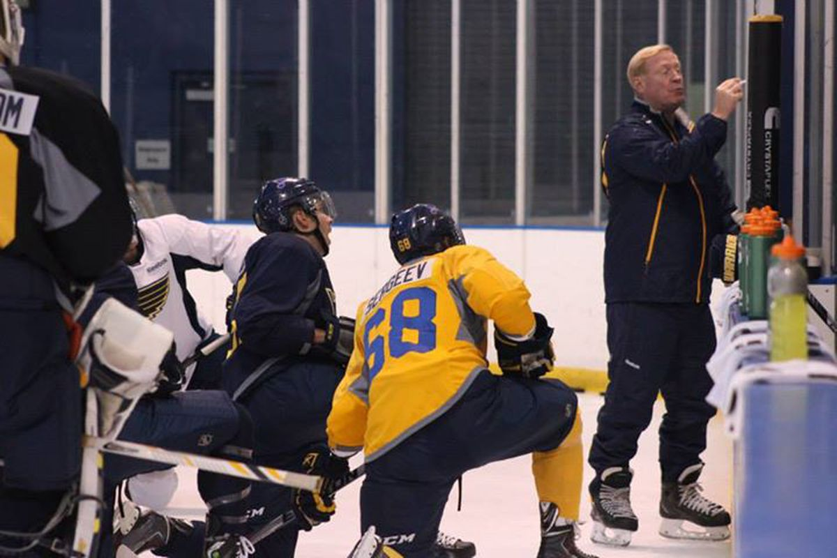 Chicago Wolves' head coach John Anderson led the Blues in Traverse City for the second straight year. Photo by