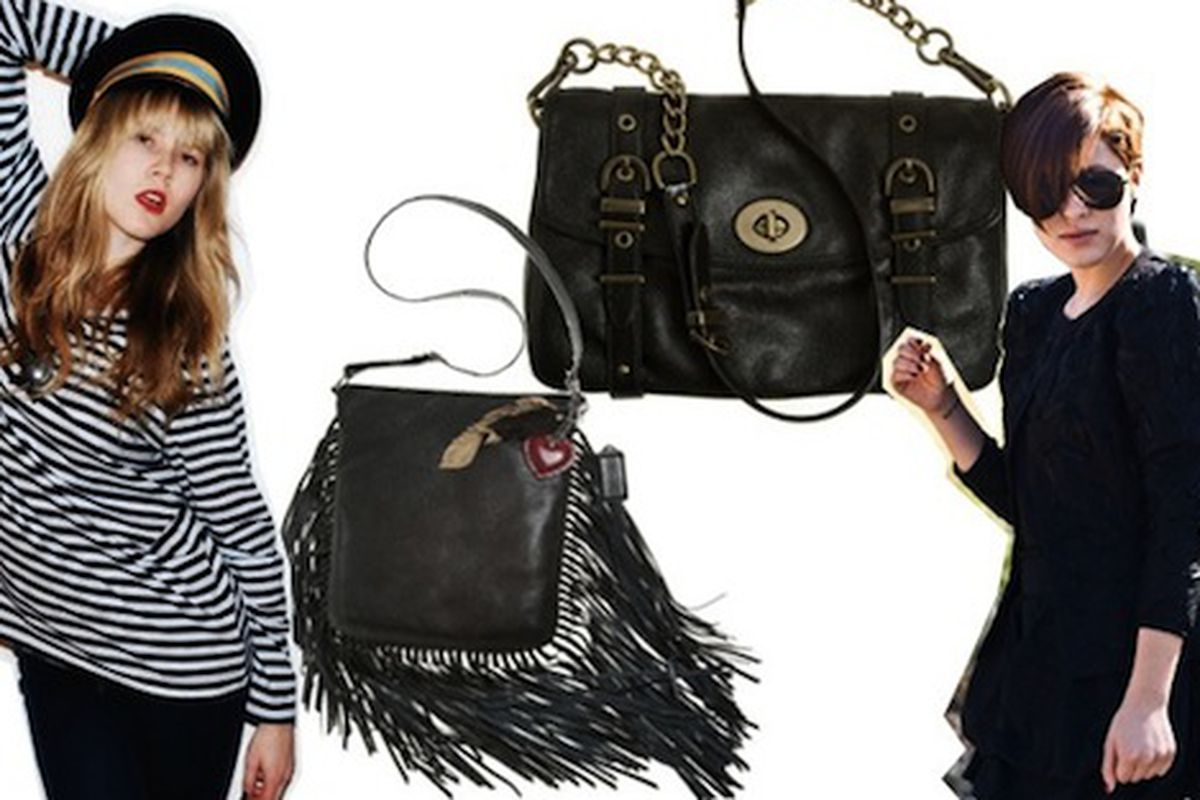 """That is some serious fringe. Image via <a href=""""http://www.refinery29.com/coach-taps-bloggers-to-design-limited-edition-bags.php"""">Refinery29</a>."""