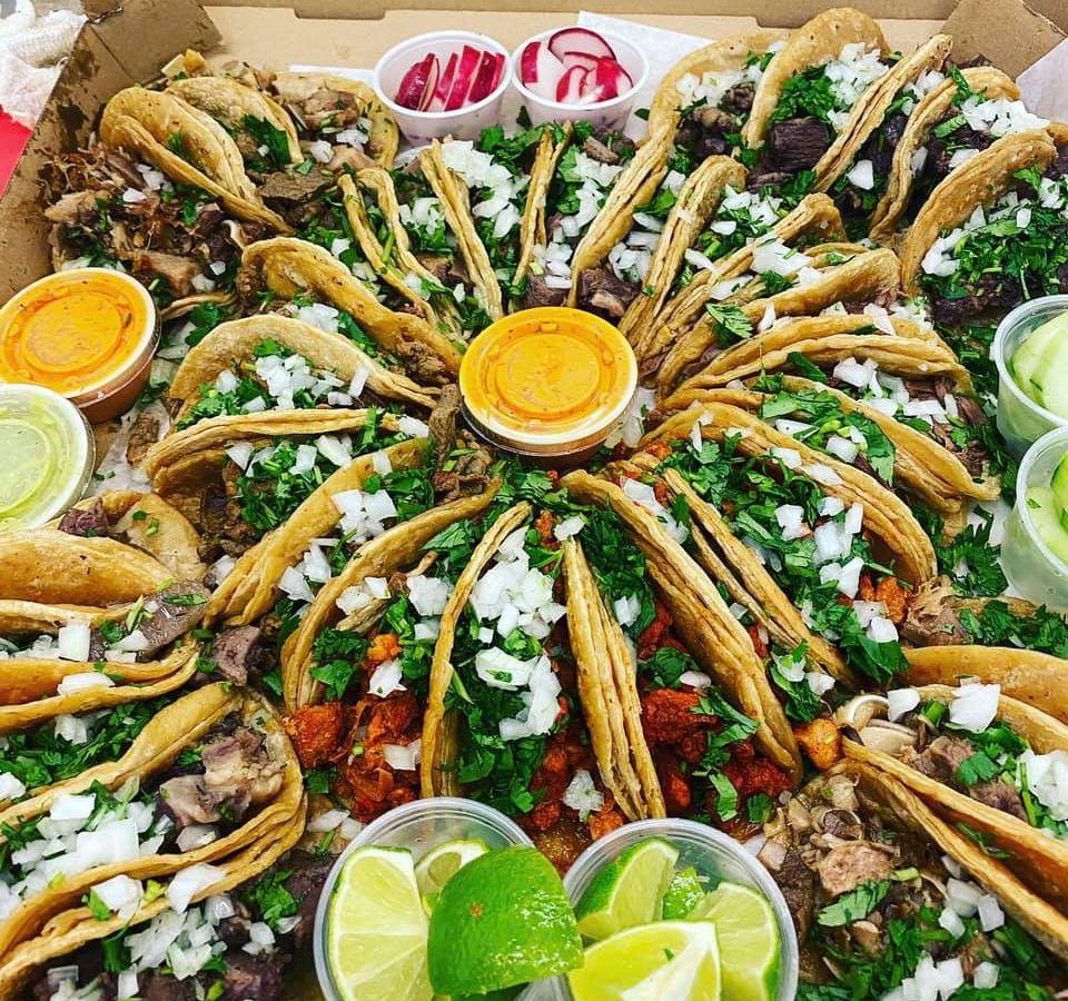 An assortment of tacos