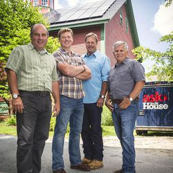 """From left: Richard Trethewey, Kevin O'Connor, Roger Cook and Tom Silva from """"Ask This Old House,"""" a show to be featured on KUED's new Create channel."""