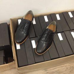 Men's black lace-up shoes, $80