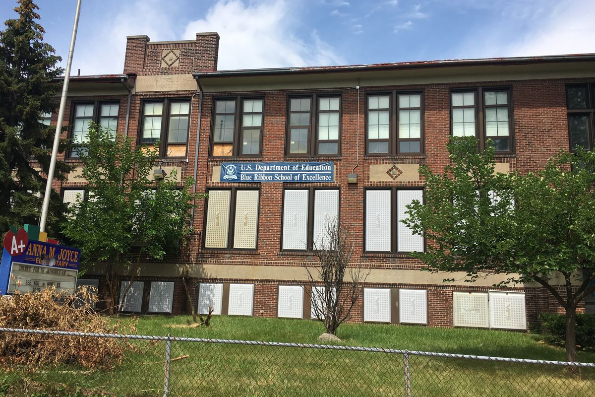 The former Anna M. Joyce Elementary School in Detroit closed in 2009.