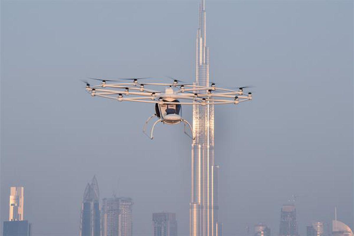 flying taxi in Dubai