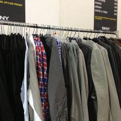 Mens coats ($125), jackets ($125), and shirts ($30)