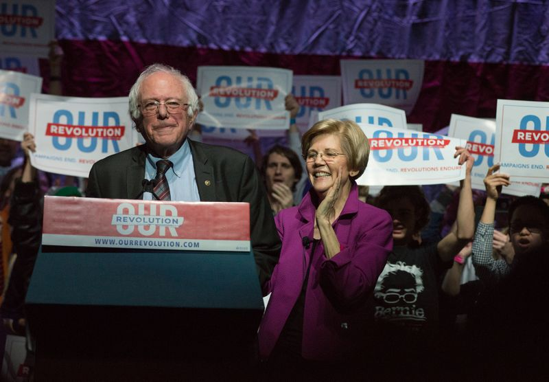 US Senators Bernie Sanders and Elizabeth Warren are among the Democrats who have embraced