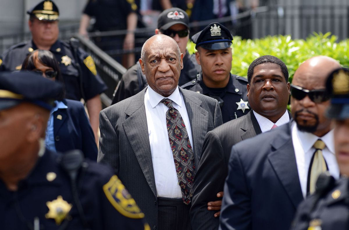 Bill Cosby leaves a preliminary hearing in Norristown, Pennsylvania, May 24.