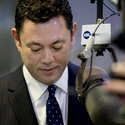 """Rep. Jason Chaffetz, R-Utah, gives an interview on KSL Newsradio's """"The Doug Wright Show"""" in Salt Lake City on Wednesday, April 19, 2017, after announcing he is not running for re-election — or any other office — in 2018."""