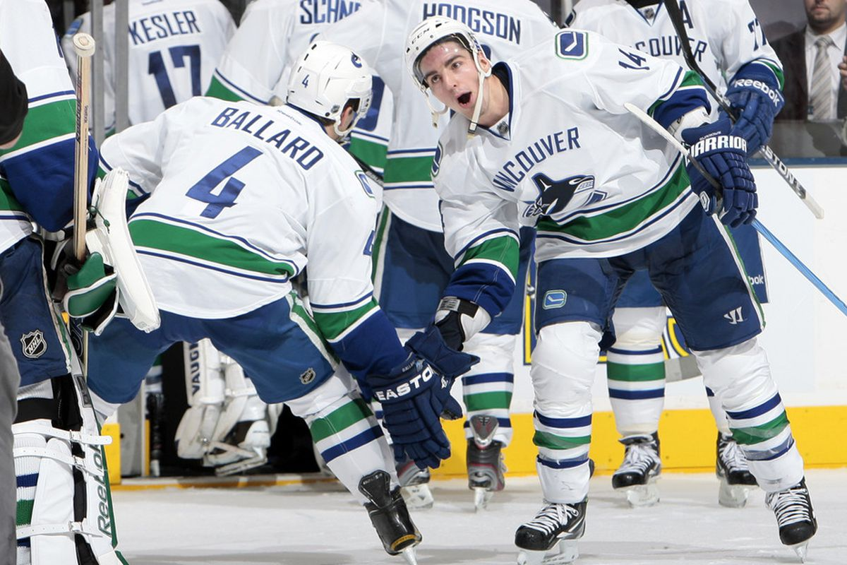 We've finally determined where and when Keith Ballard injured his neck.  That Alex Burrows is a dirty bastard!!!