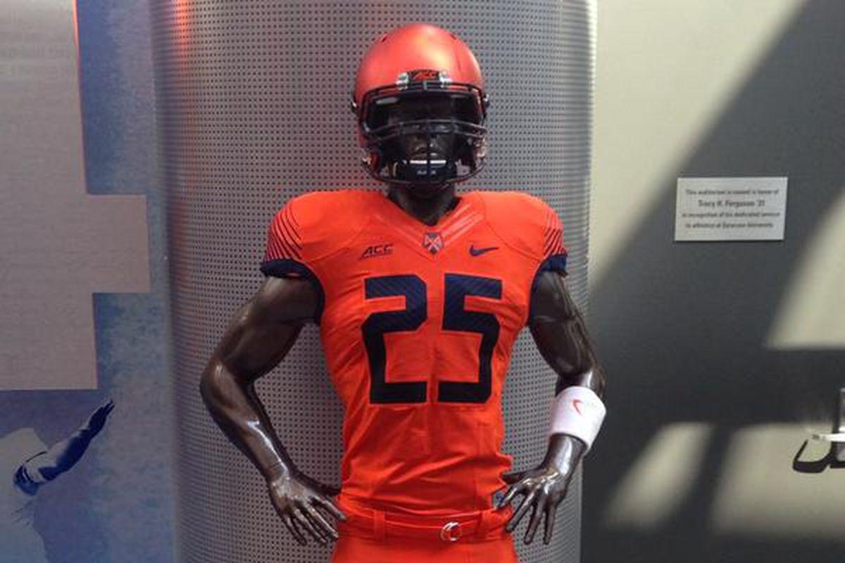 the best attitude 5d7fd c7144 A Closer Look at Syracuse's New Orange Football Uniform ...