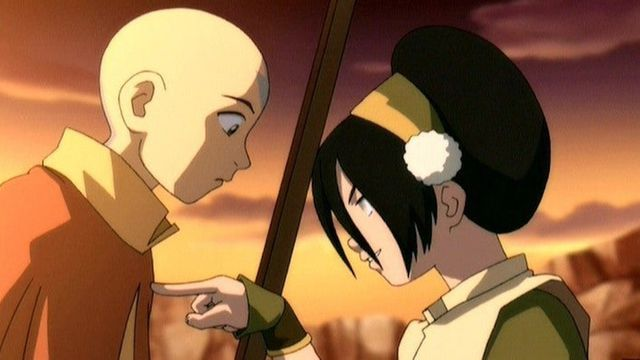 aang and toph in avatar the last airbender