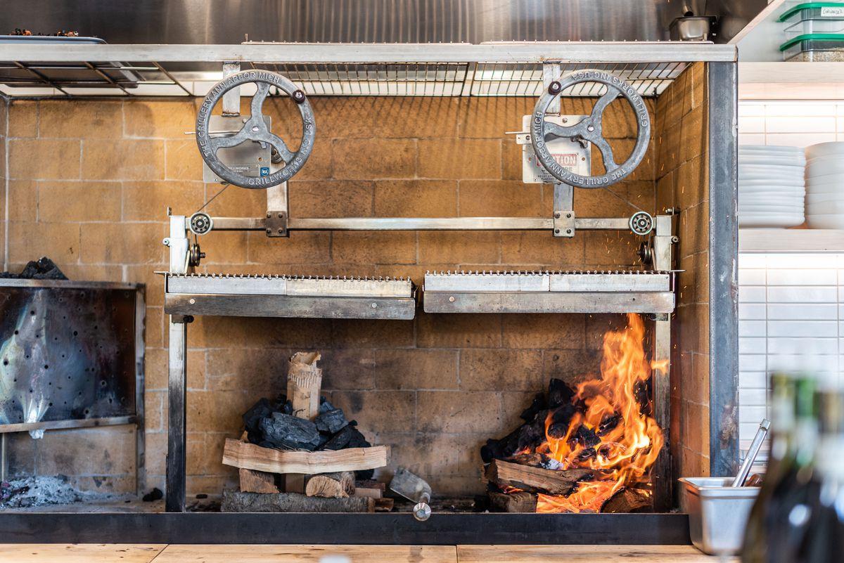 Wood grill at Varro Venice.