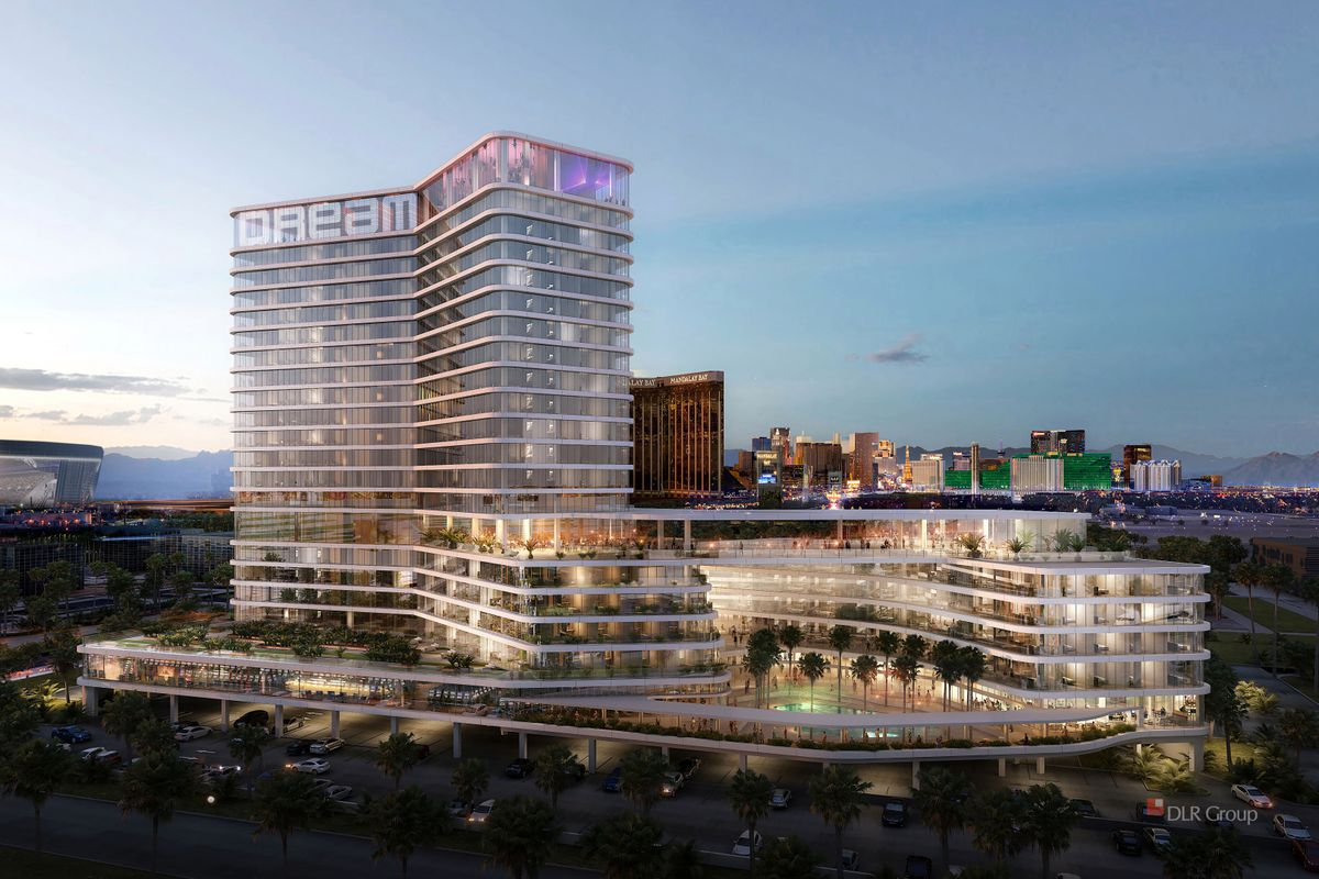 A rendering of a proposed hotel on the Las Vegas Strip