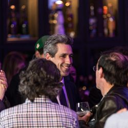Democratic Gubernatorial candidate Daniel Biss speaks at Old Country Smokehouse. | Erin Brown/Sun-Times