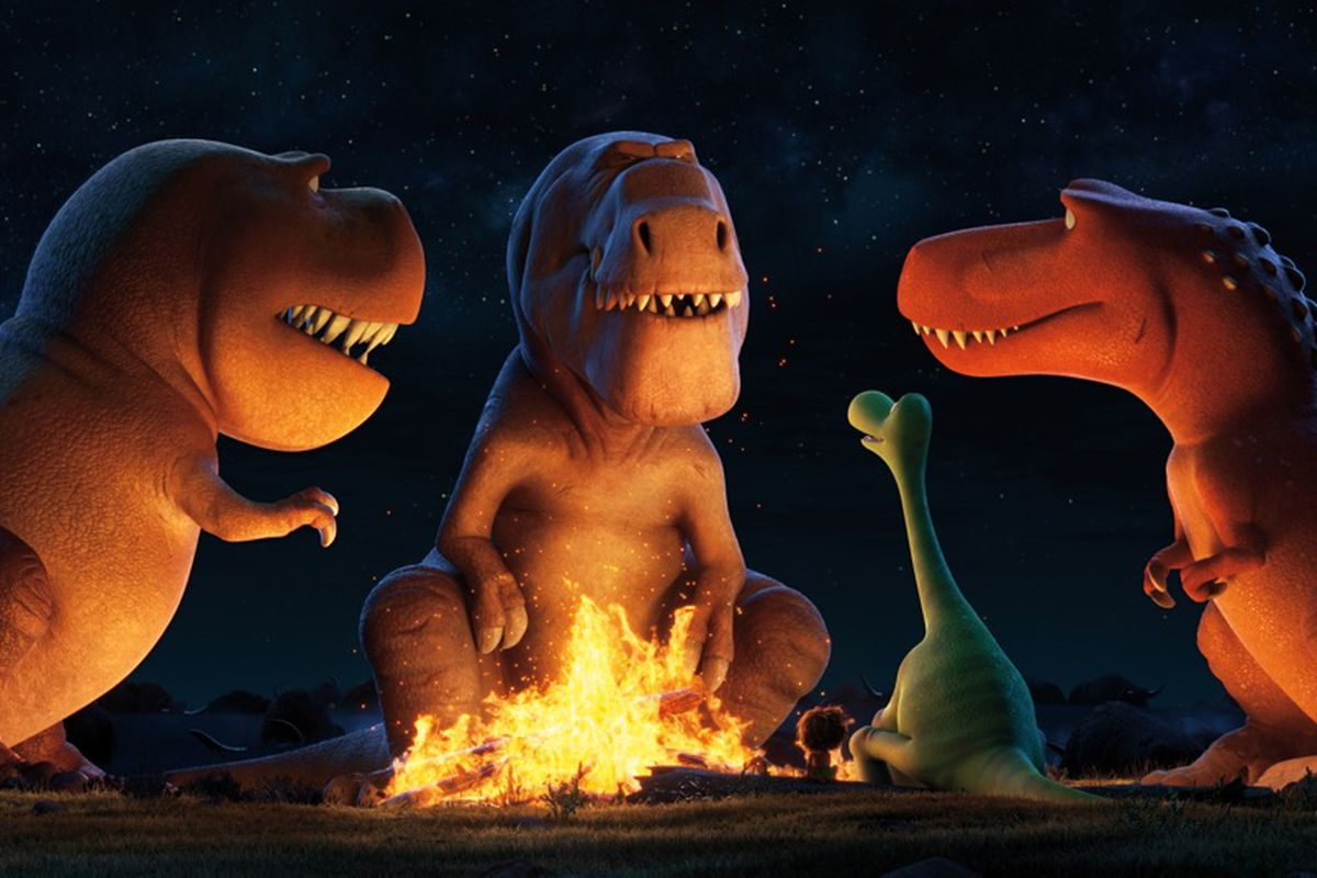Arlo meets a trio of carnivorous dinosaurs who act sort of like cowboys.