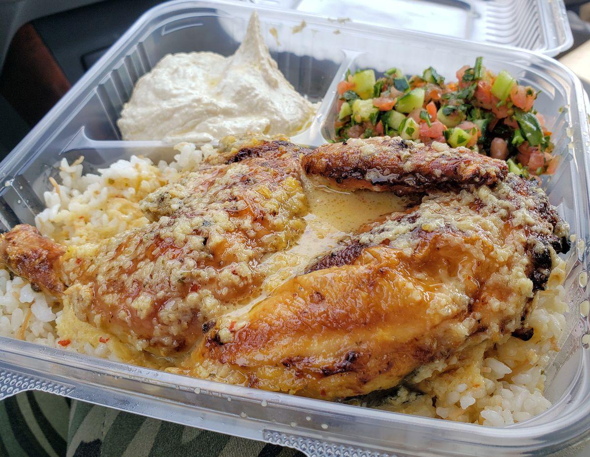 Lemon garlic chicken at Jerusalem Chicken in View Park-Windsor Hills.