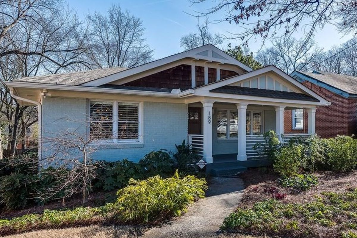 A bungalow that recently fetched a $455,00 contract in Kirkwood Atlanta.