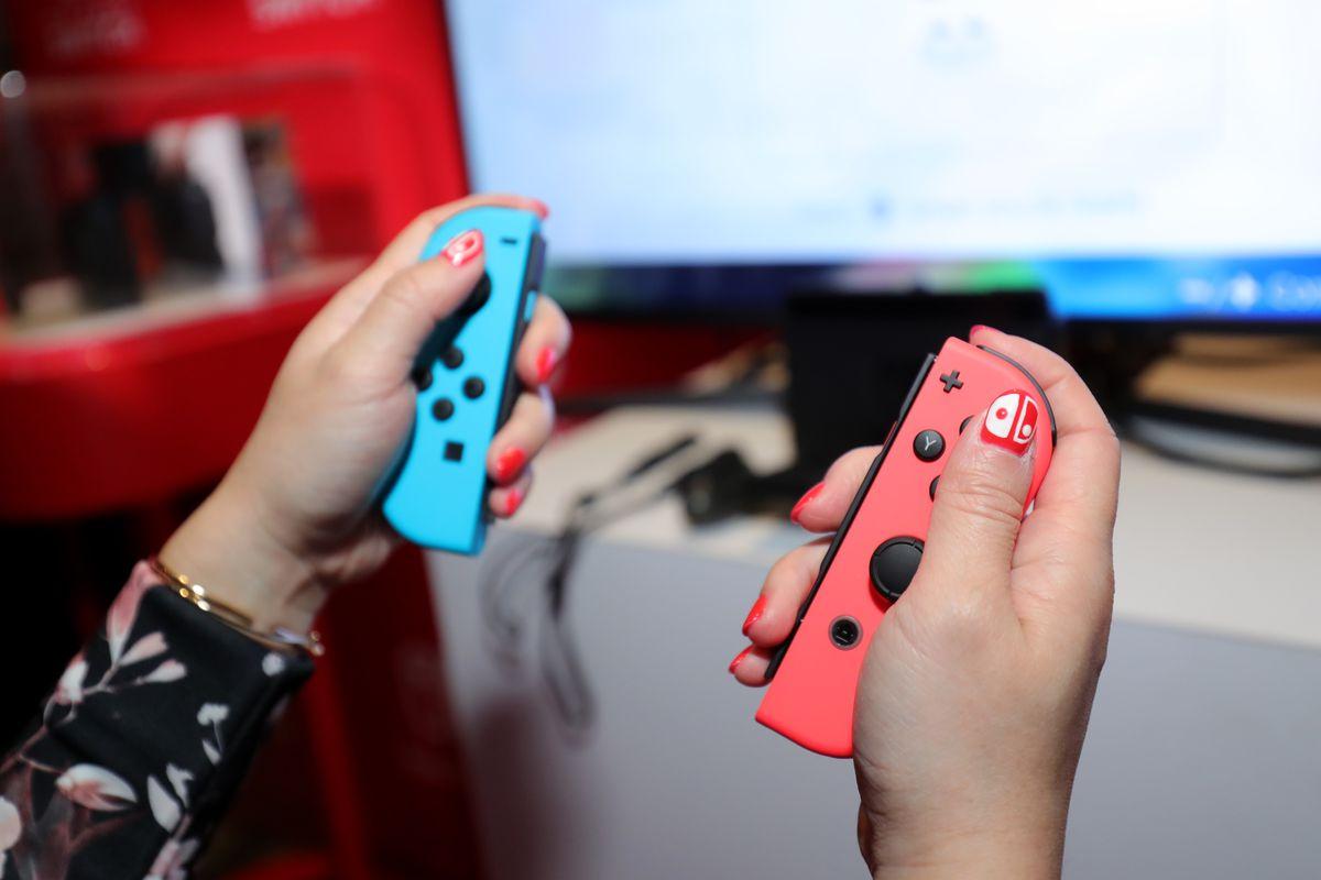 Nintendo Switch press event Joy-Con controllers