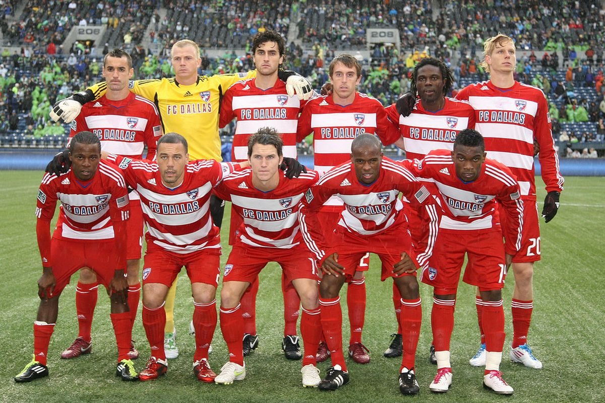 SEATTLE - MAY 25:  Members of FC Dallas pose for the team photo prior to the game against the Seattle Sounders FC at Qwest Field on May 25, 2011 in Seattle, Washington. FC Dallas defeated the Sounders 1-0. (Photo by Otto Greule Jr/Getty Images)