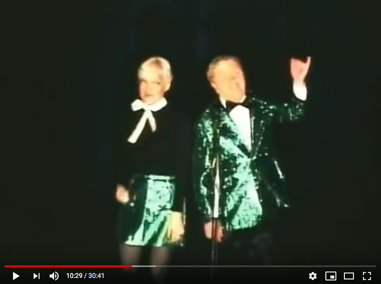 """Mille and Ted Cronin dueting in 1978 in """"Way Off Broadway"""" at St. Linus School."""