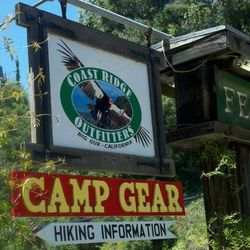 <B>Coast Ridge Outfitters at Fernwood</B>, 47200 Hwy 1 Big Sur—Even if you're not camping in Big Sur, the environs can be a bit rustic. If you find yourself in need of a trail map, charcoal for the grill, sunscreen or a sweatshirt for cool evenings, Coast
