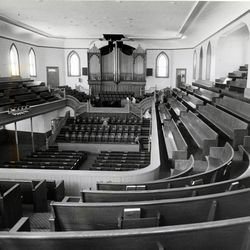 The Provo Tabernacle after restoration in 1986.