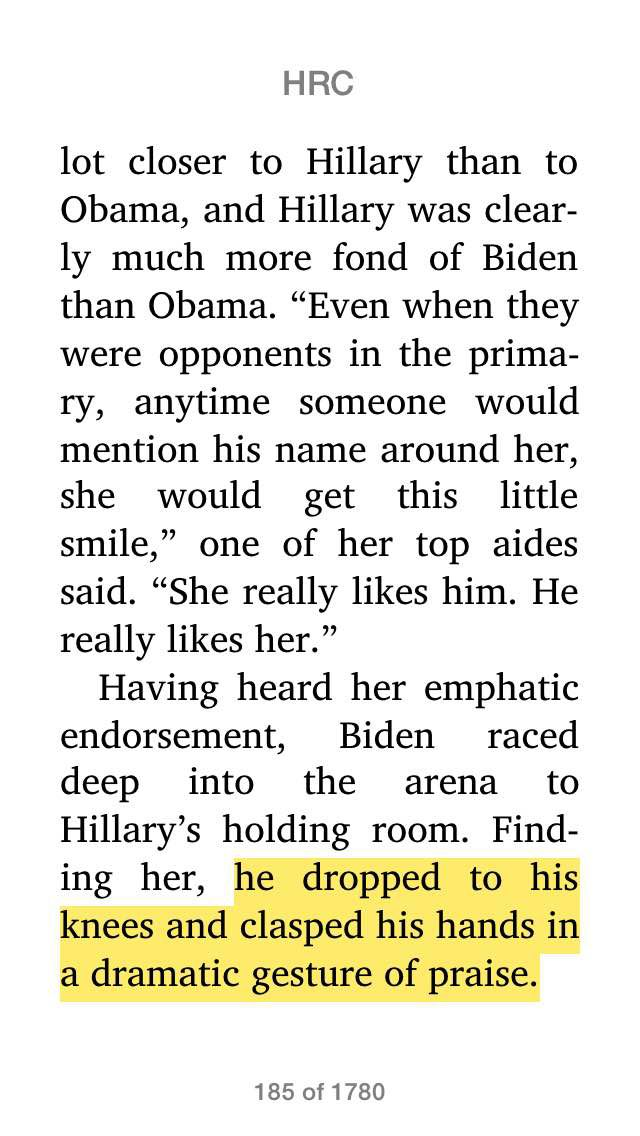 Biden praises Clinton