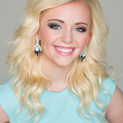 """Title: Miss Uintah Basin  Talent: Piano, """"Don't Stop Believin'  Platform: Reading for a Better Life!"""