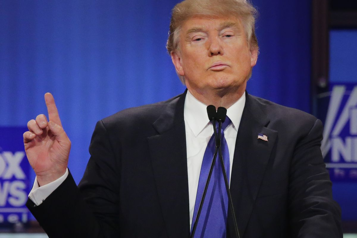 Donald Trump at the Republican debate on CNN on March 10, 2016.