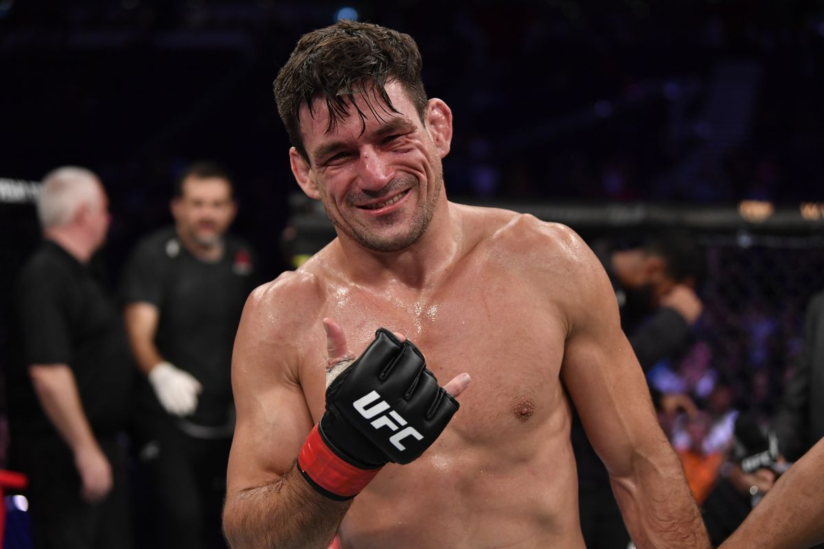 Demian Maia of Brazil celebrates his submission victory over Ben Askren in their welterweight bout during the UFC Fight Night event at Singapore Indoor Stadium on October 26, 2019 in Singapore.