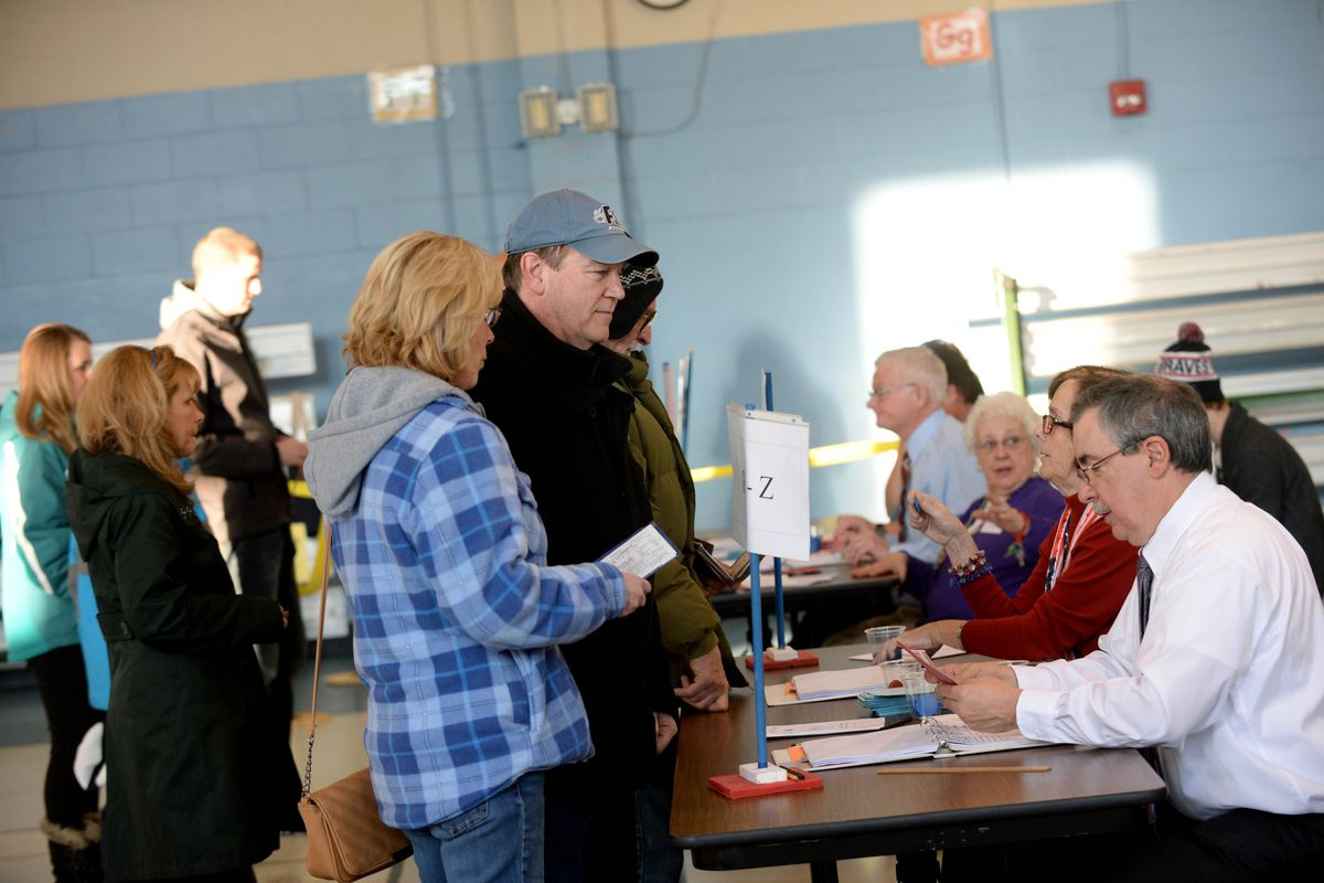 Voters cast their ballots February 9, 2016, in New Hampshire.