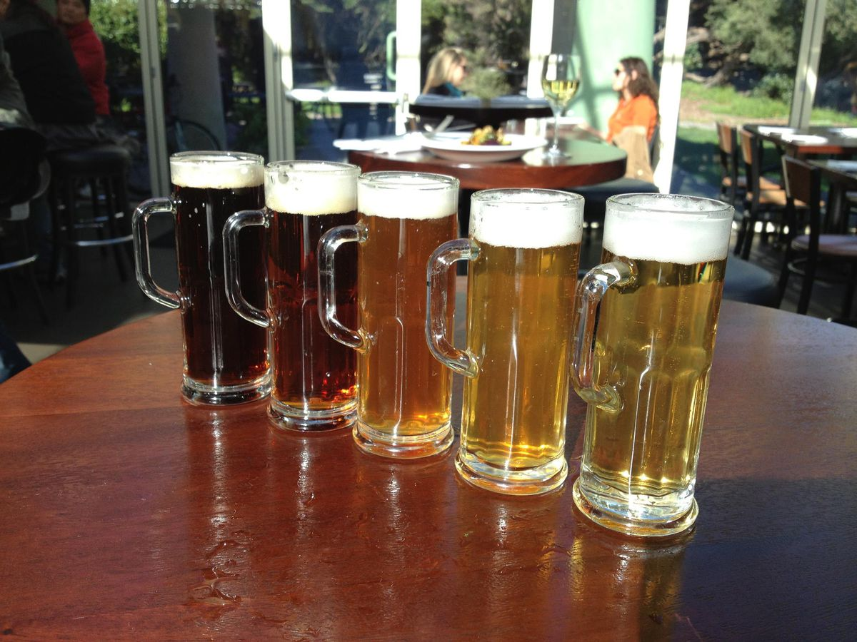 A selection of beer at Park Chalet.