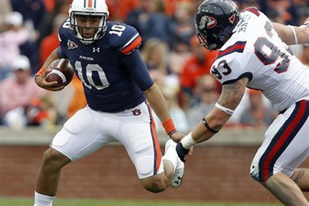 Will Auburn back up Quarterback Kiehl Frazier have more involvement in the Tigers' offense for Saturday's Chik- fil-a bowl?