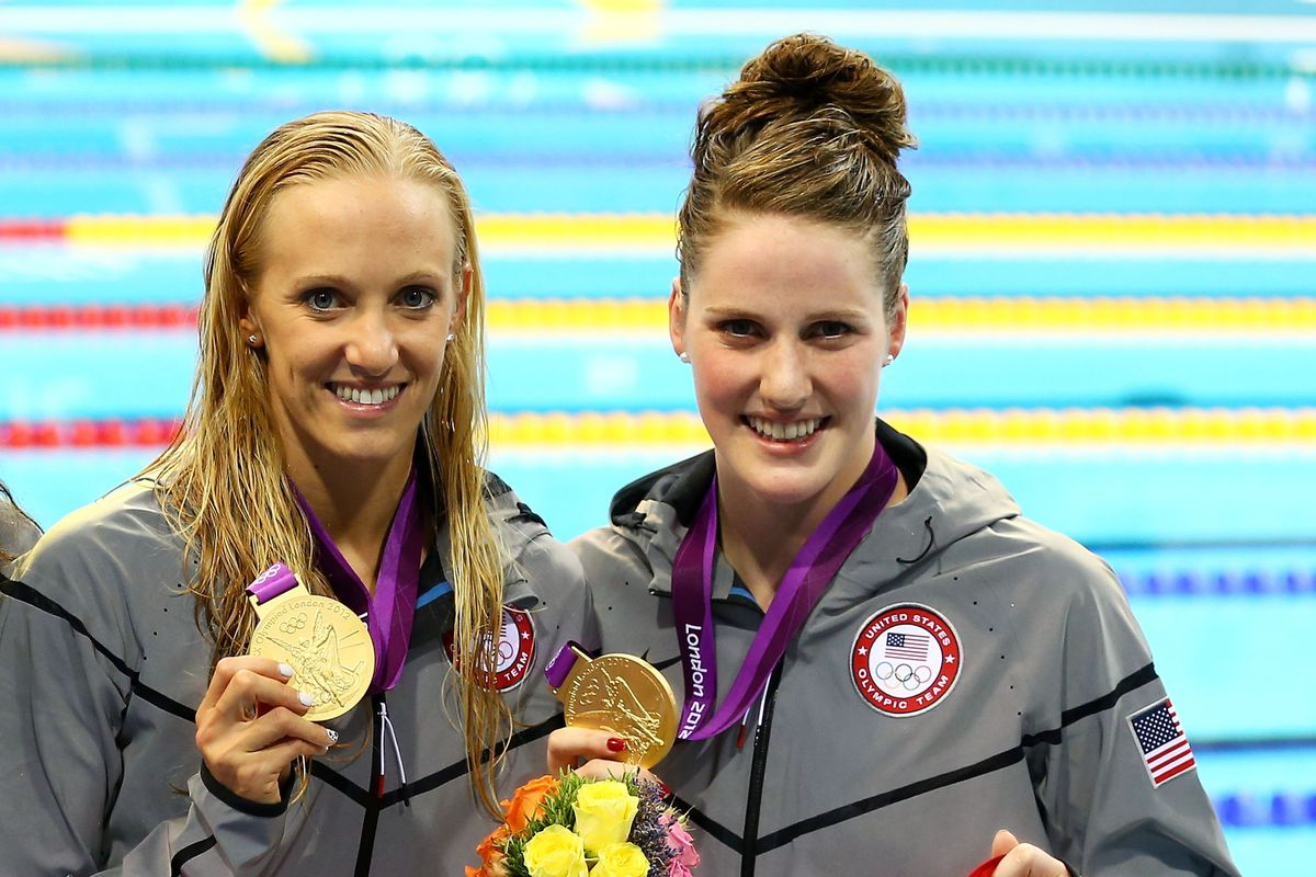 Both Dana Vollmer (left) and Missy Franklin (right) are in position to medal on Saturday.