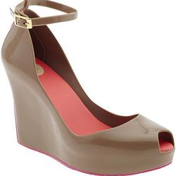 """Mellissa Patchuli Wedge V, $145 at <a href=""""http://busstopboutique.com/"""">Bus Stop</a>"""