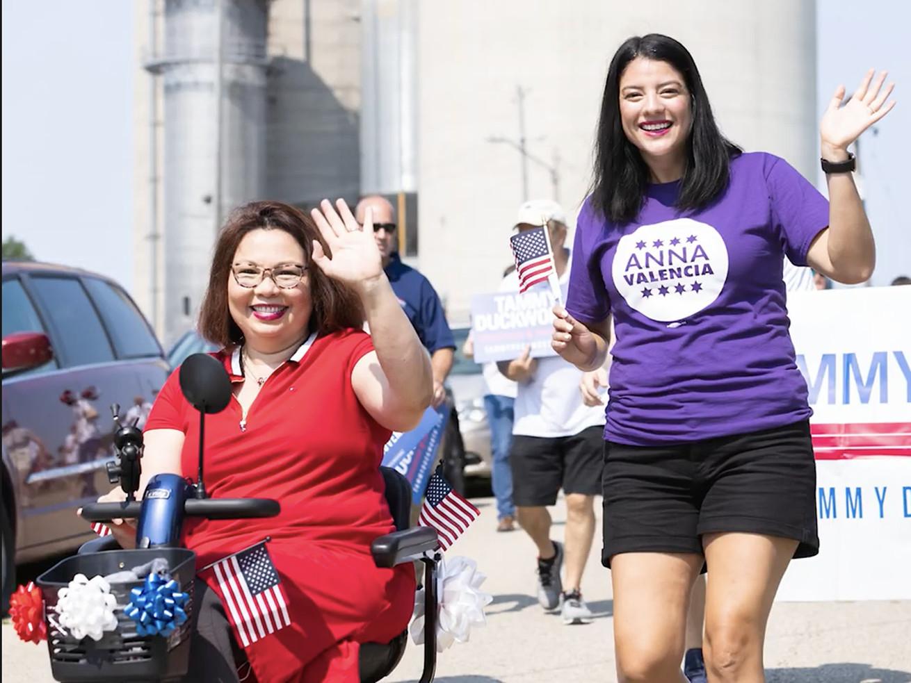 Sen. Tammy Duckworth backs Chicago City Clerk Anna Valencia for Illinois Secretary of State.