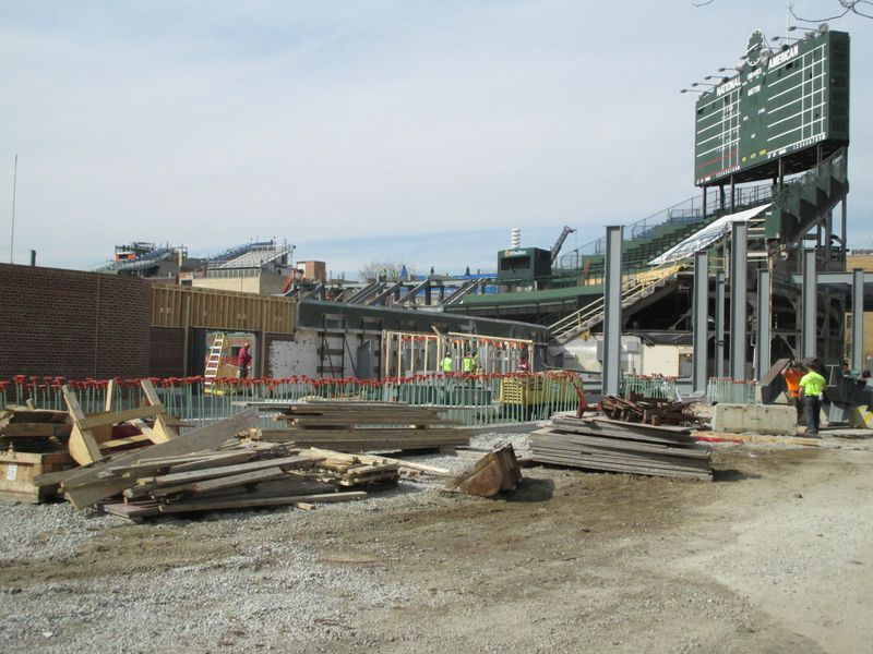 Wrigley Field Construction Update March 13 Bleed Cubbie