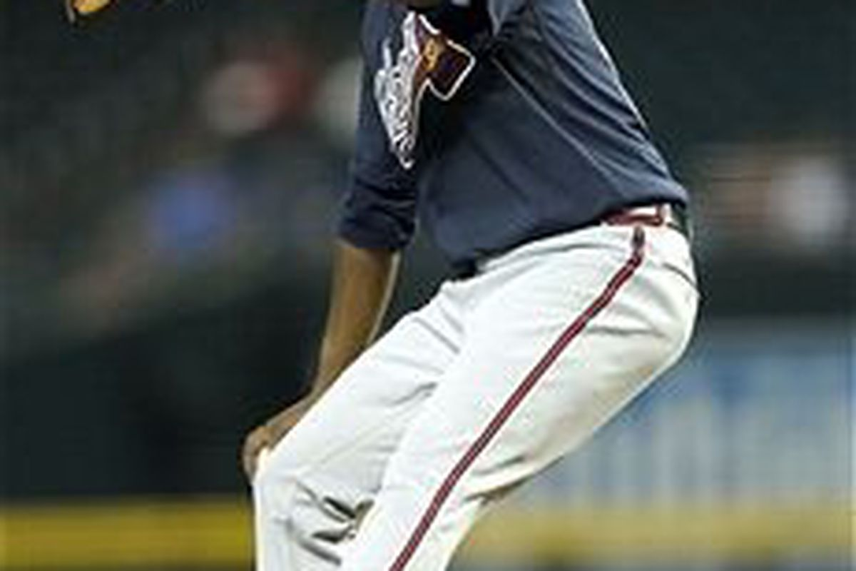 Atlanta Braves pitching prospect Julio Teheran. (Photo by Christian Petersen, Getty Images)