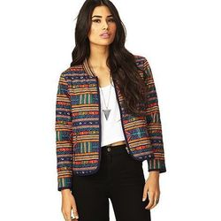 """<b>Forever 21</b> Eclectic Print Jacket, <a href=""""http://www.forever21.com/Product/Product.aspx?BR=f21&Category=outerwear_coats-and-jackets&ProductID=2000073771&VariantID="""">$32.80</a>"""