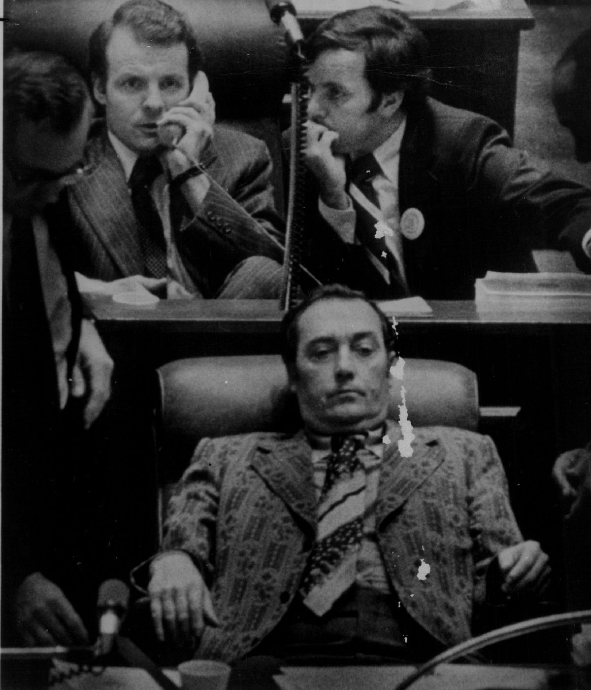 Then-Rep. Michael Madigan (left) pictured in 1975 alongside then-Sen. Richard M. Daley in the state Capitol.