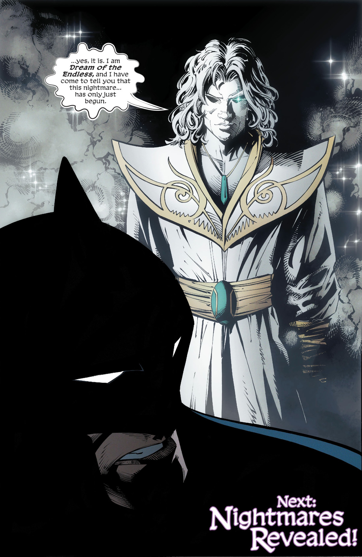 Dream of the Endless appears to Batman on the final page of Batman: Metal #1