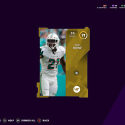 This player, selected at random, cost 5,000 MUT Coins to acquire from the MUT Store. You may not need a free safety, may not want Miami's Eric Rowe, and may not have any use for his 71 rating.