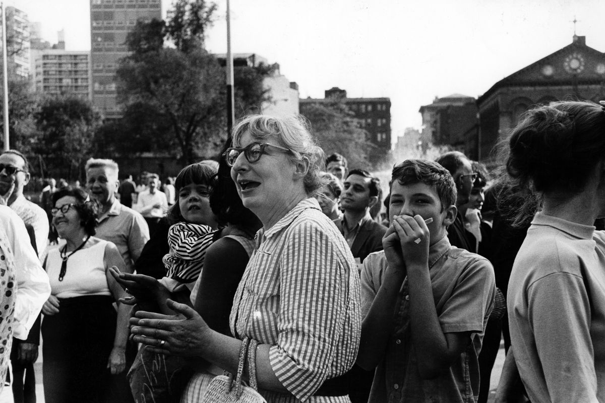 Jane Jacobs in Washington Square.