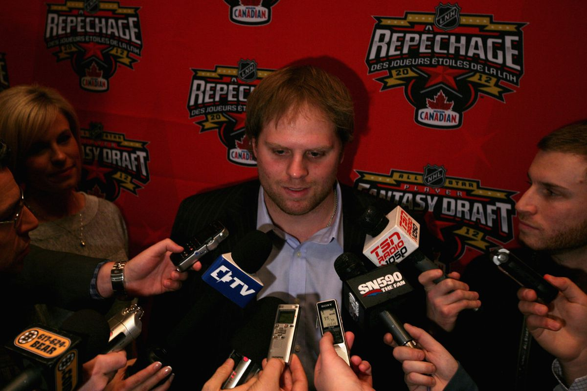 Phil Kessel seen giving 110%, one interview at a time.