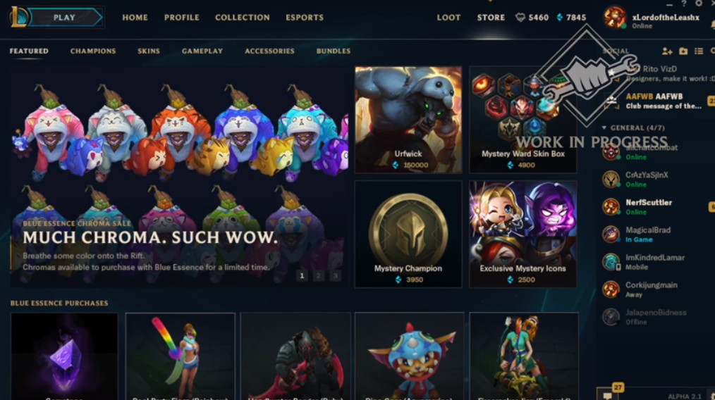 Urfwick Will Be Buy Able With Blue Essence Soon The Rift Herald