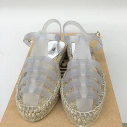 Transparent Ariella sandals, $82