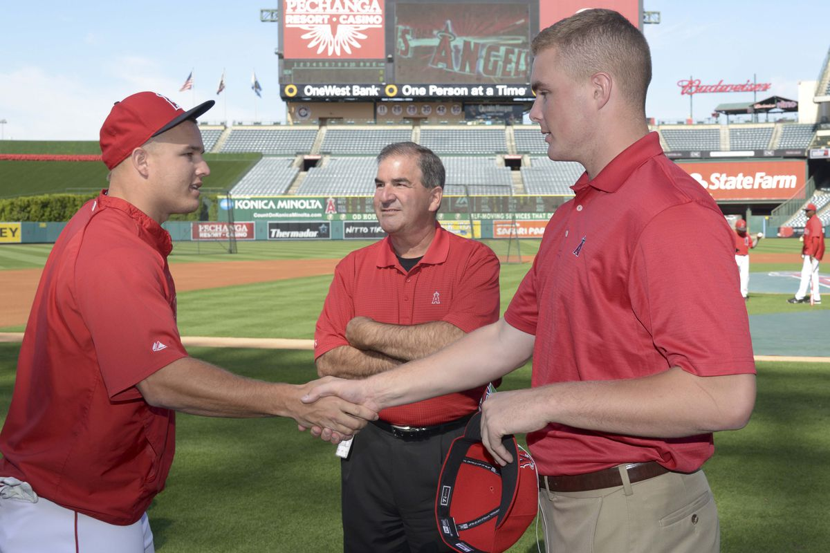 Trout and Newcomb--imagine these two christening Riverside as the site of the next Angels dynasty.