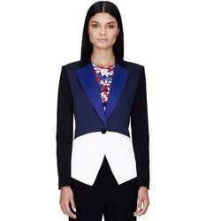 Blazer in Blue/Black/White Colorblock, $49.99