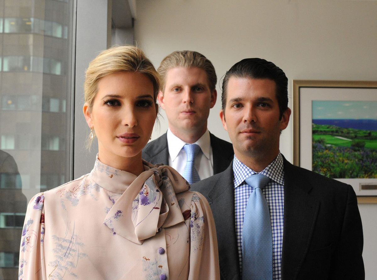 In a photo that Donald Trump Jr. (right) posted on Instagram in September 2016, he poses with sister Ivanka and brother Eric.