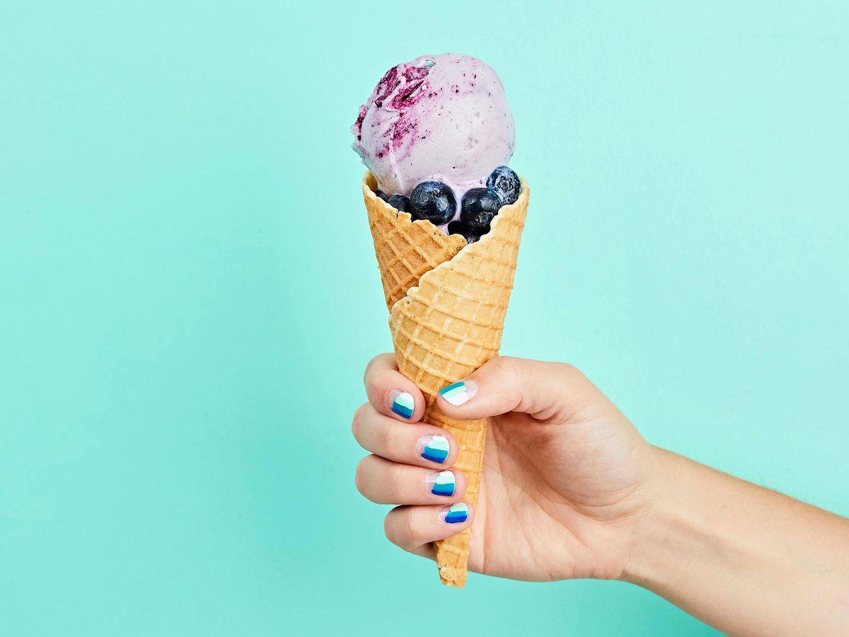 Lick Honest Ice Creams' blueberry cone