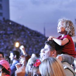 People listen to Carrie Underwood at the Stadium of Fire at LaVell Edwards Stadium in Provo , Utah, Saturday, July 3, 2010. Matt Gillis, Deseret News